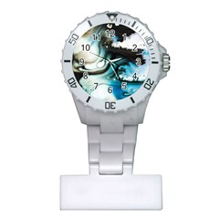 Abstract Painting Background Modern Plastic Nurses Watch