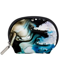 Abstract Painting Background Modern Accessory Pouches (small)
