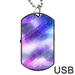 Background Art Abstract Watercolor Dog Tag Usb Flash (two Sides)