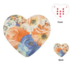 Texture Fabric Textile Detail Playing Cards (heart)