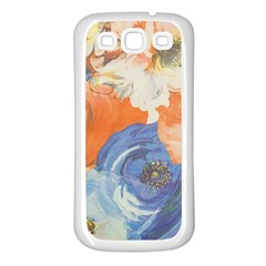 Texture Fabric Textile Detail Samsung Galaxy S3 Back Case (white)