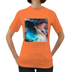 Background Art Abstract Watercolor Women s Dark T Shirt