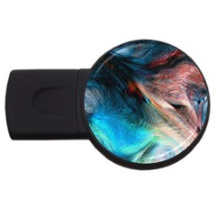 Background Art Abstract Watercolor Usb Flash Drive Round (4 Gb)