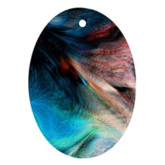 Background Art Abstract Watercolor Oval Ornament (two Sides)