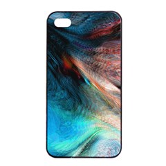Background Art Abstract Watercolor Apple Iphone 4/4s Seamless Case (black)