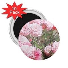 Flowers Roses Art Abstract Nature 2 25  Magnets (10 Pack)