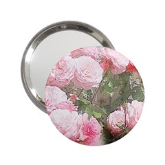 Flowers Roses Art Abstract Nature 2 25  Handbag Mirrors