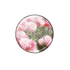Flowers Roses Art Abstract Nature Hat Clip Ball Marker (4 Pack)