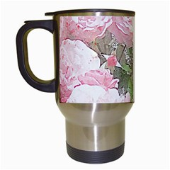 Flowers Roses Art Abstract Nature Travel Mugs (white)