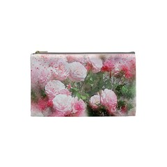 Flowers Roses Art Abstract Nature Cosmetic Bag (small)