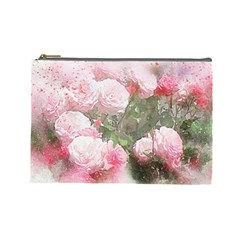 Flowers Roses Art Abstract Nature Cosmetic Bag (large)