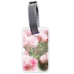 Flowers Roses Art Abstract Nature Luggage Tags (one Side)