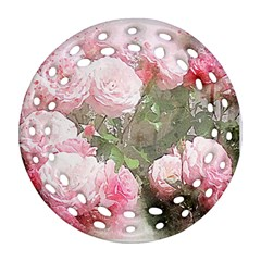 Flowers Roses Art Abstract Nature Ornament (round Filigree)