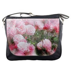 Flowers Roses Art Abstract Nature Messenger Bags