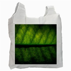 Leaf Nature Green The Leaves Recycle Bag (two Side)