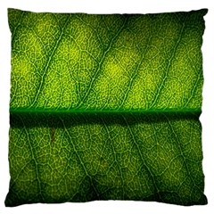 Leaf Nature Green The Leaves Large Flano Cushion Case (two Sides)