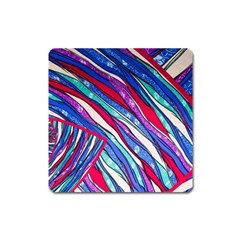 Texture Pattern Fabric Natural Square Magnet