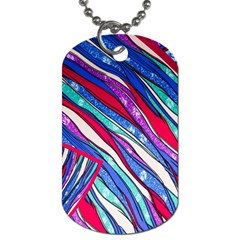 Texture Pattern Fabric Natural Dog Tag (two Sides)