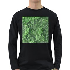 Geological Surface Background Long Sleeve Dark T Shirts