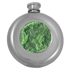 Geological Surface Background Round Hip Flask (5 Oz)