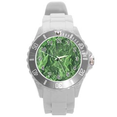 Geological Surface Background Round Plastic Sport Watch (l)