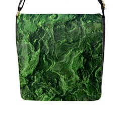 Geological Surface Background Flap Messenger Bag (l)