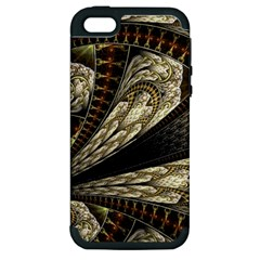 Fractal Abstract Pattern Spiritual Apple Iphone 5 Hardshell Case (pc+silicone)
