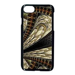 Fractal Abstract Pattern Spiritual Apple Iphone 7 Seamless Case (black)