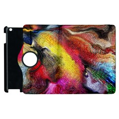 Background Art Abstract Watercolor Apple Ipad 2 Flip 360 Case