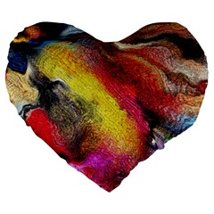 Background Art Abstract Watercolor Large 19  Premium Flano Heart Shape Cushions