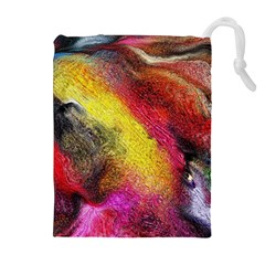 Background Art Abstract Watercolor Drawstring Pouches (extra Large)
