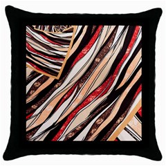Fabric Texture Color Pattern Throw Pillow Case (black)