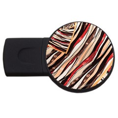 Fabric Texture Color Pattern Usb Flash Drive Round (2 Gb)