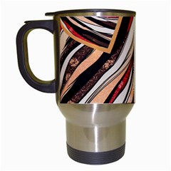 Fabric Texture Color Pattern Travel Mugs (white)
