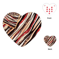 Fabric Texture Color Pattern Playing Cards (heart)