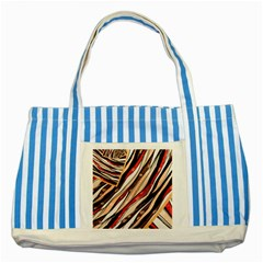 Fabric Texture Color Pattern Striped Blue Tote Bag