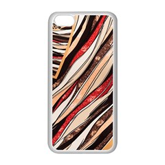 Fabric Texture Color Pattern Apple Iphone 5c Seamless Case (white)