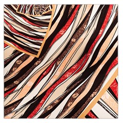 Fabric Texture Color Pattern Large Satin Scarf (square)