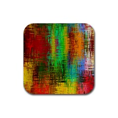 Color Abstract Background Textures Rubber Coaster (square)