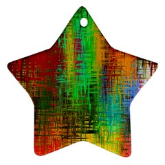 Color Abstract Background Textures Star Ornament (two Sides)