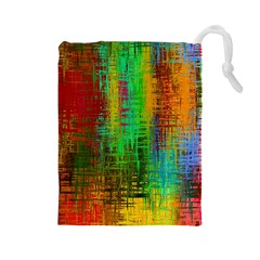 Color Abstract Background Textures Drawstring Pouches (large)