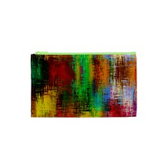 Color Abstract Background Textures Cosmetic Bag (xs)