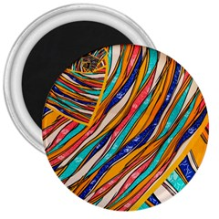 Fabric Texture Color Pattern 3  Magnets