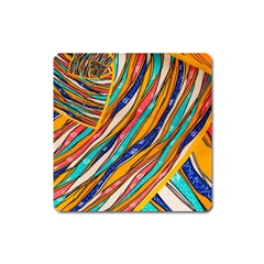 Fabric Texture Color Pattern Square Magnet