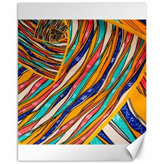 Fabric Texture Color Pattern Canvas 11  X 14