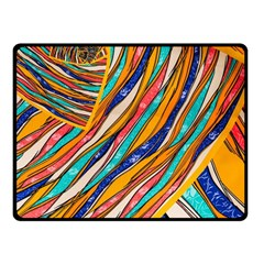 Fabric Texture Color Pattern Fleece Blanket (small)