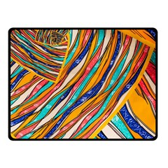 Fabric Texture Color Pattern Double Sided Fleece Blanket (small)
