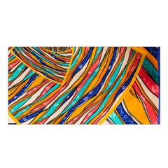 Fabric Texture Color Pattern Satin Shawl