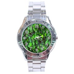 The Leaves Plants Hwalyeob Nature Stainless Steel Analogue Watch