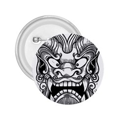 Japanese Onigawara Mask Devil Ghost Face 2 25  Buttons